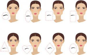forme des sourcils selon le visage
