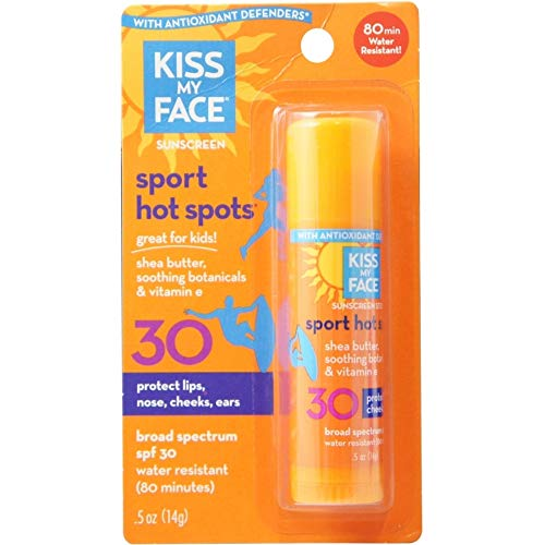 Écran solaire Kiss My Face FPS 30 Hot Spots : Bâton de 0,5 oz (paquet de 2) par Kiss My...