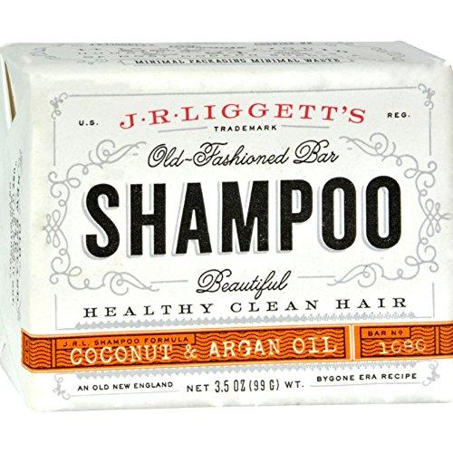 J.R. Liggett's, Barre de shampooing, huile vierge de noix de coco et d'argan, 3,5 oz (99 g)