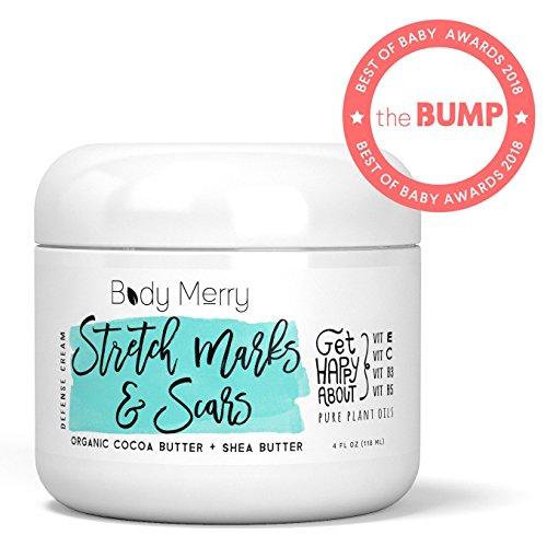Body Merry Stretch Marks Cream - Crème hydratante quotidienne au cacao biologique....