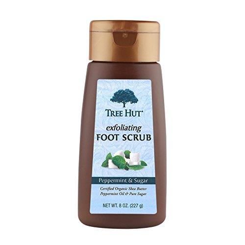 Exfoliant pour les pieds Tree Hut Exfoliant, Menthe poivrée et Sucre, 8 onces par Tree Hut