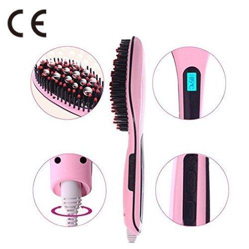 Lisseur de cheveux Digital Anti-Static Heating Démêlant Brosse à cheveux démêlant....