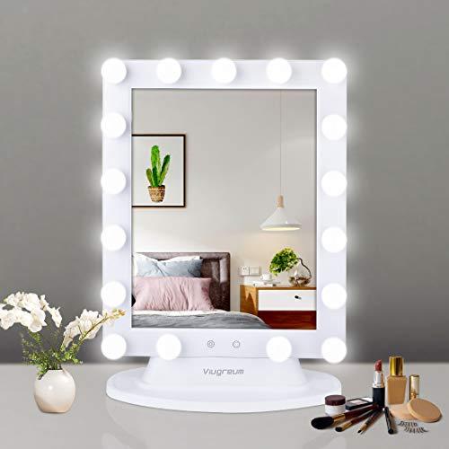 Viugreum Miroir de courtoisie LED Hollywood, Miroir de maquillage....