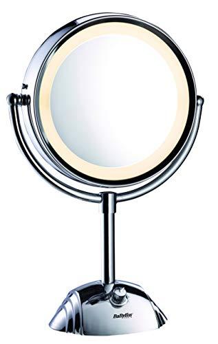 BaByliss 8438E Miroir de maquillage double face avec grossissement X1 et X8,....