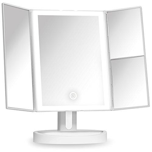 Maquillage miroir Fancii avec lumière et grossissement 5x et 10x, miroir de table....