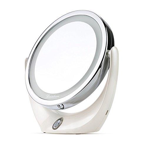 Miroir de maquillage BROADCARE avec LEDs 1X / 5X Double Grossissement.....