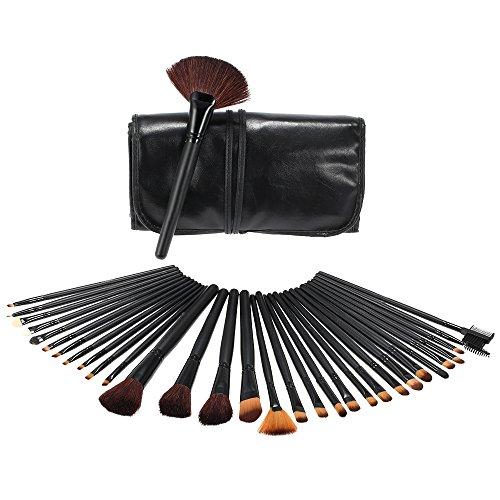 Anself - 32 unités de pinceaux pour le maquillage cosmétique, avec sac en cuir....