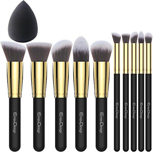 EmaxDesign - Set de brosses à maquillage en fibre synthétique pour kabuki....