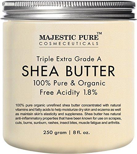 Majestueux beurre de karité pur, cru vierge biologique pressé à froid non raffiné....